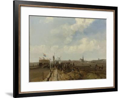 Racetrack at Scheveningen-Charles Rochussen-Framed Art Print