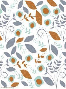 Fall Floral Pattern by Rachel Gresham
