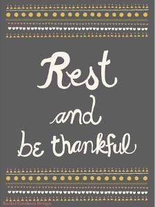 Rest and be thankful by Rachel Gresham