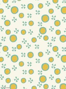 Yellow Dots Pattern by Rachel Gresham