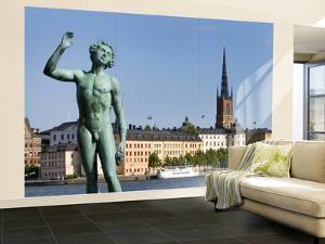 "Bronze Statue ""Sangen"" Outside Stockholm City Hall (Stadshuset) by Rachel Lewis"