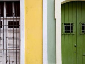 Colourful Colonial Doorways in Old San Juan by Rachel Lewis