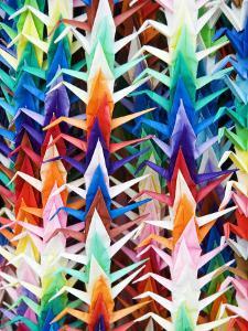 Colourful Paper Cranes at Fushimi Inari Shrine by Rachel Lewis