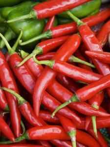 Fresh Chillies for Sale at Psar Nat Market by Rachel Lewis