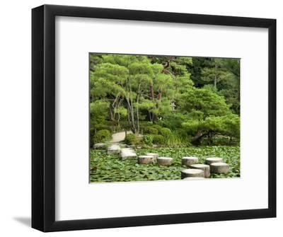 Stepping Stones across Soryu-Ike Pond in Naka Shin'En Garden, Within Heian-Jingu Shrine Complex