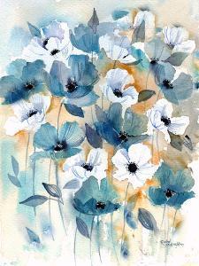 Blue Beige Anemones by Rachel McNaughton