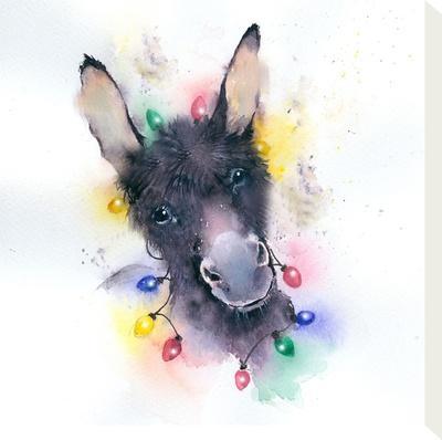 Donkey Xmas Lights by Rachel McNaughton
