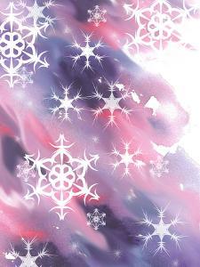 Pink And Purple Snowflakes by Rachel McNaughton