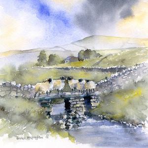 Sheep On A Bridge by Rachel McNaughton