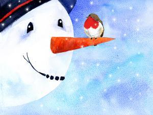 Snowman And Robin by Rachel McNaughton