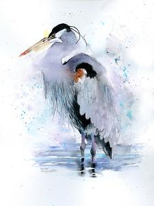 Splashy Heron by Rachel McNaughton