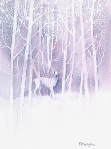 White Deer Frosty Forest by Rachel McNaughton