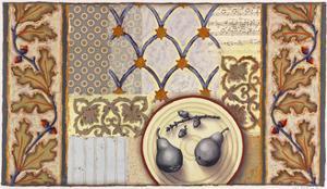 Pears and Acorns Dusk by Rachel Paxton