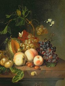A Still Life on a Marble Ledge by Rachel Ruysch