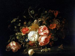 Basket of Flowers, Uffizi Gallery, Florence by Rachel Ruysch