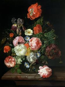 Flower in a Glass Vase by Rachel Ruysch