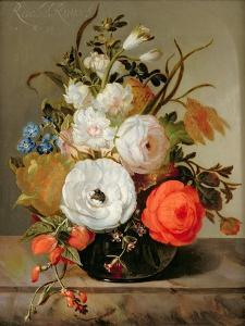 Still Life of Flowers in a Glass Vase, 1742 by Rachel Ruysch