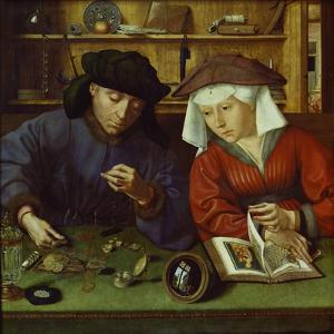 The Money Lender and His Wife, 1514 by Rachel Ruysch
