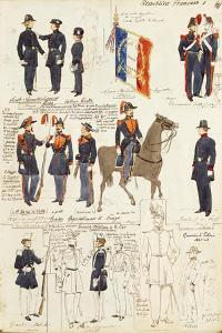 Various Uniforms of Republic of France by Rachel Ruysch