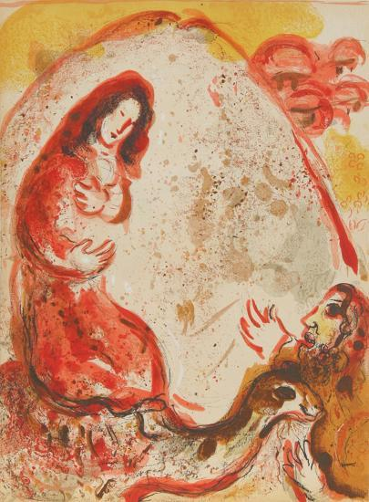 """Rachel steals her Father's graven images from """"Drawings for the Bible""""-Marc Chagall-Premium Edition"""