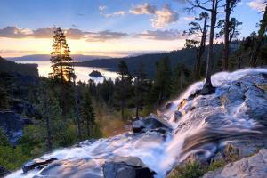 A Beautiful Sunrise at Eagle Falls at Emerald Bay in Lake Tahoe, California. by Rachid Dahnoun