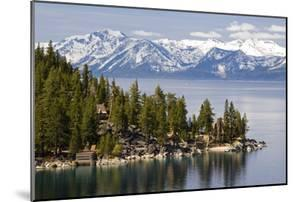 The Famous Property of the Thunderbird Lodge is Framed by Lake Tahoe and the Snow-Capped Peaks of T by Rachid Dahnoun