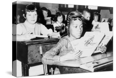 Racial Integration in Boston with Roxbury Girl in Near by Jamaica Plain School, 1965