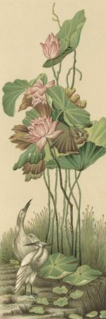Crane and Lotus Panel I
