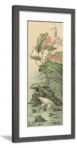 Crane and Lotus Panel II by Racinet