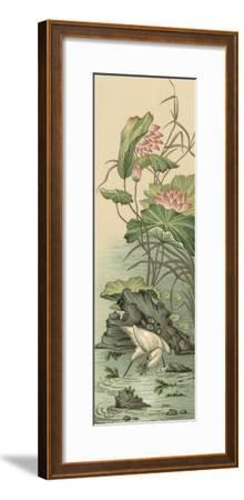 Crane and Lotus Panel II