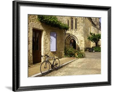 Racing Bike Parked in Street of Village of Daglan-Barbara Van Zanten-Framed Photographic Print