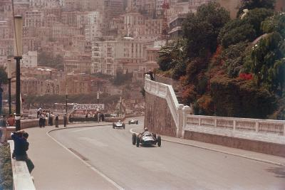 Racing Cars on the Road Track at the Monaco Grand Prix, Monte Carlo--Photographic Print
