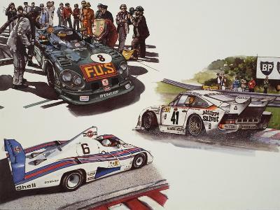 Racing Cars--Giclee Print