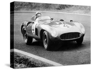 Racing Driver Fangio Here at the Wheel During Great Sweden Prize Race August 1956