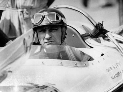 Racing Driver Fangio Here at the Wheel During Race in Monza June 28, 1958