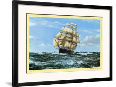 Racing Home, The Cutty Sark-Montague Dawson-Framed Art Print