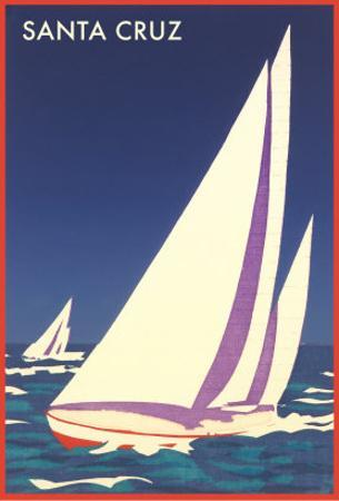 Racing Sailboats, Santa Cruz, California