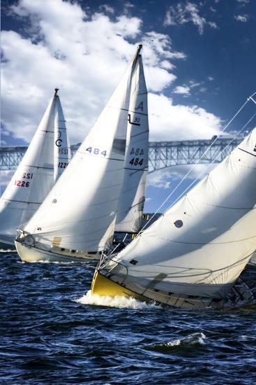 Racing to the Buoy-Alan Hausenflock-Photographic Print