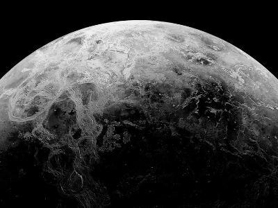 Radar View of the Southern Hemisphere of Venus-Michael Benson-Photographic Print