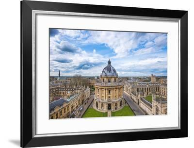 Radcliffe Camera and the View of Oxford from St. Mary's Church, Oxford, Oxfordshire-John Alexander-Framed Photographic Print