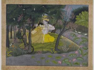 Radha and Krishna in a Grove, India