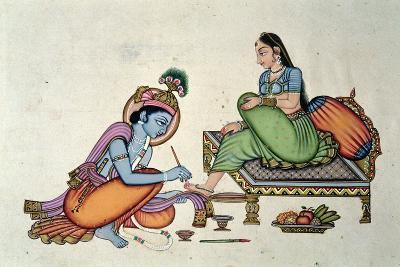 Radha and Krishna-Indian School-Giclee Print