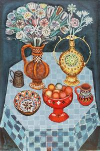 Still Life with Red Apples, 1967 by Radi Nedelchev