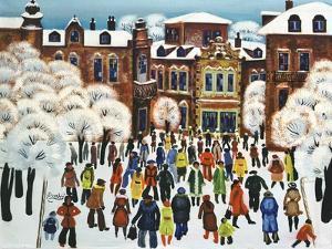 Winter Day in the City, 1975 by Radi Nedelchev