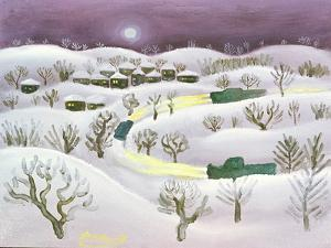 Winter Night, 1971 by Radi Nedelchev