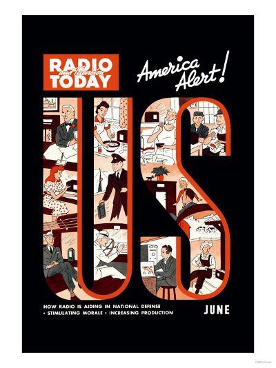 Radio and Television Today: America Alert!--Art Print