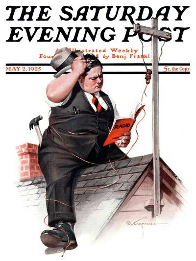"""Radio Antennae,"" Saturday Evening Post Cover, May 2, 1925-Robert C^ Kauffmann-Giclee Print"