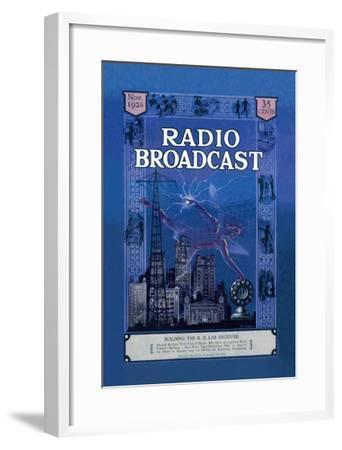 Radio Broadcast, Building the R.B. Lab Receiver--Framed Art Print