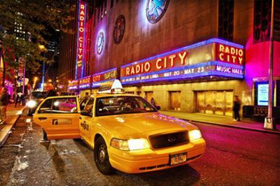 Radio City Music Hall by Night, New York City, New York, USA