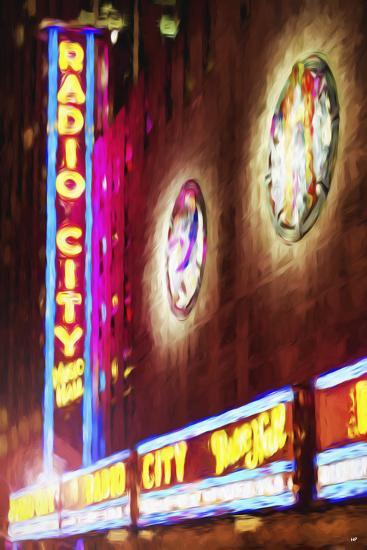 Radio City Music Hall - In the Style of Oil Painting-Philippe Hugonnard-Giclee Print